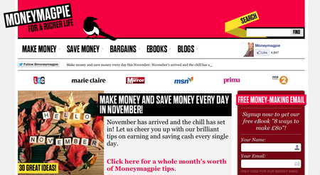 Website of the day: Money Magpie