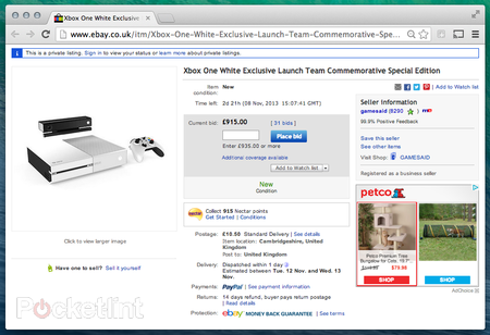Exclusive white Xbox One now up for charity auction on eBay