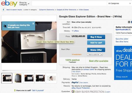 Buy your very own Google Glass right now, on eBay