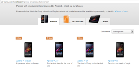 Sony Xperia Z1S - the mini Z1 for global release - spotted on Sony's website - photo 2