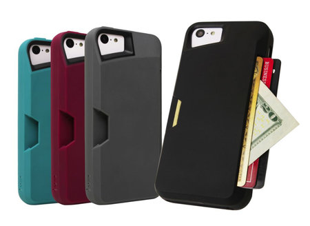 Slite Card Case for iPhone 5C keeps your phone and credit cards safe