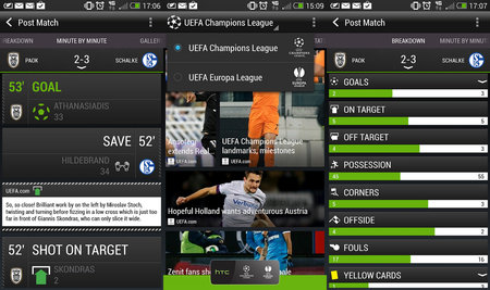 HTC Footballfeed Champions League and Europa League app is free to all Android devices