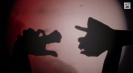Super Mario 3D World recreated in hand shadow puppets (video)