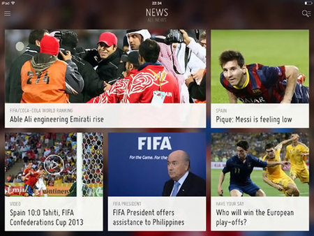 Official FIFA iOS and Android apps now out, offering live coverage of 2014 World Cup final draw