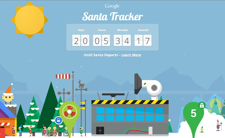 Google's Santa Tracker website is ready to go, alongside Android and Glass apps