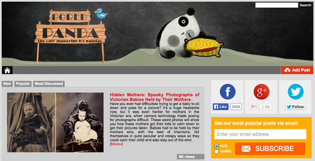 Website of the day: Bored Panda