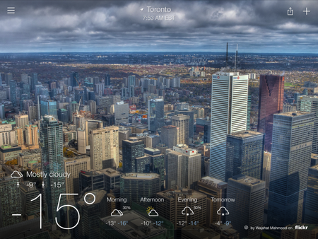 Yahoo Weather for iPad lands on App Store, bringing same design as popular iPhone version