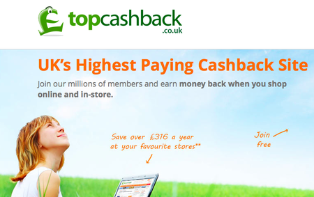 Website of the day: Top CashBack