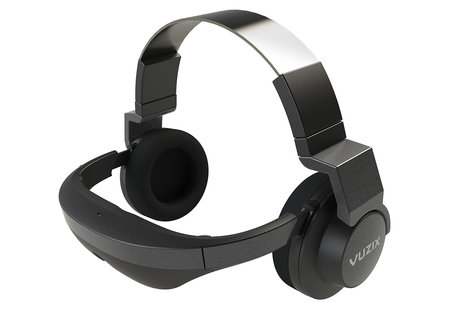 Vuzix V720 video headphones combo puts a 720p 3D screen on your face