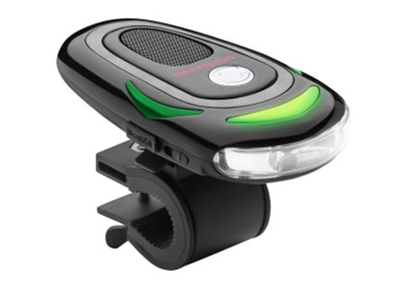 Schwinn CycleNav guides your ride with spoken directions and light signals