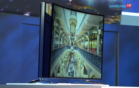 Samsung's bendable LED TV can transform at the touch of a button