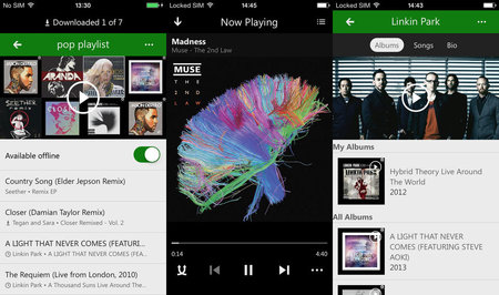 Xbox Music for iPhone and iPad updated with offline playback