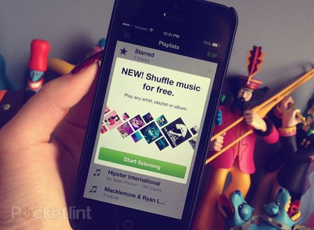 Spotify for iOS adds free streaming music, though in shuffle mode for iPhone