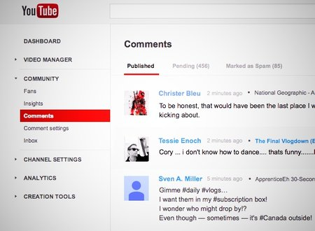 YouTube Comments inbox tool goes live, improving comment management experience
