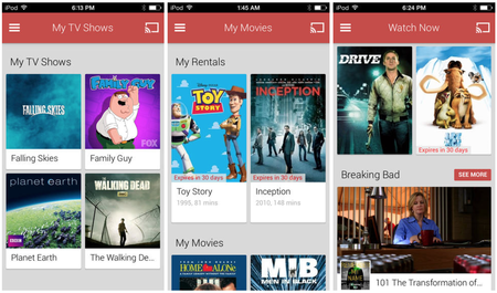 Google Play Movies and TV app released for iOS devices, watch Google's content on the other side