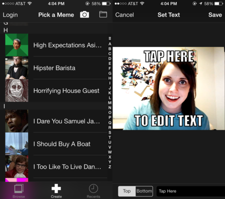 Imgur launches MemeGen app for iOS to quickly create a meme