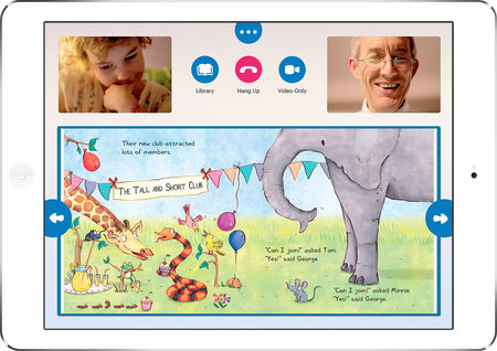 Caribu for iPad app lets you read picture eBooks to kids during a video call