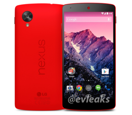 Red Google Nexus 5 appears yet again in leaked press shot