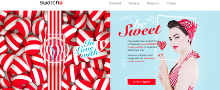 Website of the day: Valentine's Day by Swatch