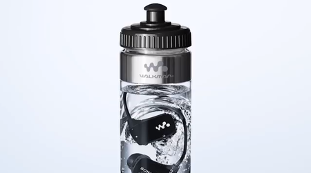 Sony selling its waterproof MP3 player in a bottle of water
