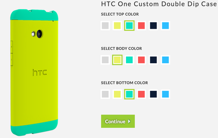 HTC takes on Moto Maker with HTC One 'Double Dip' case