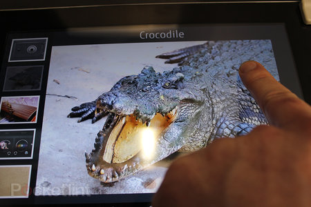 Fujitsu ultrasonic haptic tablet pictures and hands-on