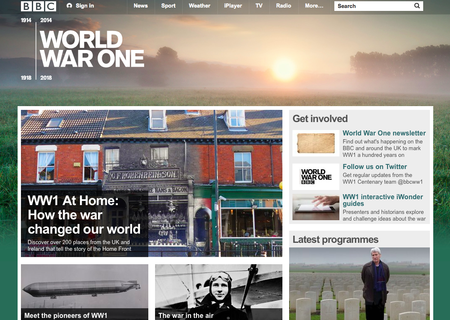 Website of the day: BBC - World War One