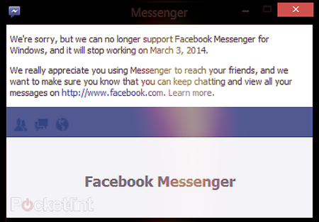Facebook Messenger app for Windows desktop to shut down in March