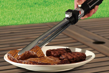 Star Wars Lightsaber tongs can help flip your BBQ wookie meat