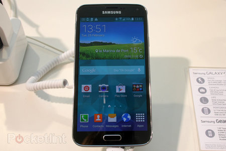 How does the Samsung Galaxy S5 fingerprint scanner work?