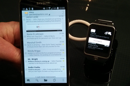 Spritz will let you read 1,000 words per minute on a Samsung Gear 2 smartwatch