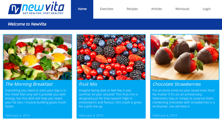 Website of the day: New Vita