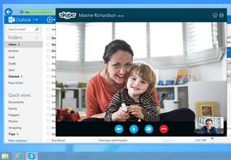 Go from an Outlook email straight to Skype with the new update