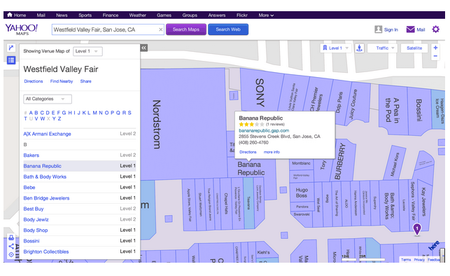 Yahoo Maps adds over 75,000 indoor venue maps from Nokia Here