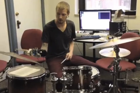 Drummer has robotic arm upgrade to become better-than-human cyborg drumming machine