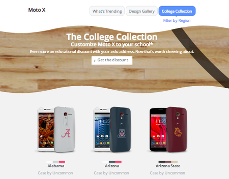 Motorola Moto Maker adds Moto X college colours and lowers price during March Madness in US