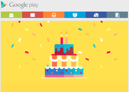 Google Play Store second birthday deals and freebies includes free Tom Hanks' Big