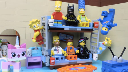 Lego Simpsons intro video made featuring The Lego Movie gang
