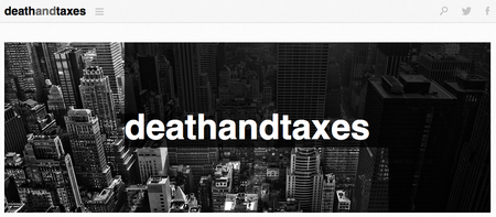 Website of the day: Death and Taxes