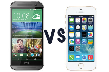 HTC One (M8) vs iPhone 5S: What's the difference?
