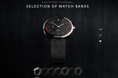 Moto 360 mockups emerge showing several different watch bands to match your style