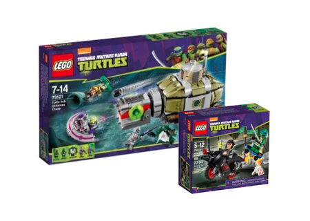 Lego's TMNT range adds four minifig sets, as first trailer to Ninja Turtles reboot film releases