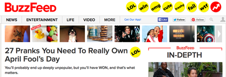 Website of the day: Buzzfeed