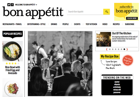 Website of the day: Bon Appétit