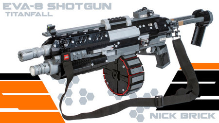 Gamer builds Lego life-sized EVA-8 shotgun from video game Titanfall