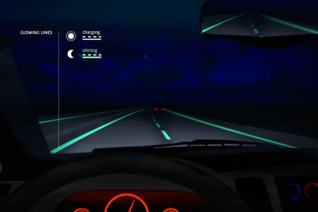 Glow in the dark roads light up the Netherlands like Tron