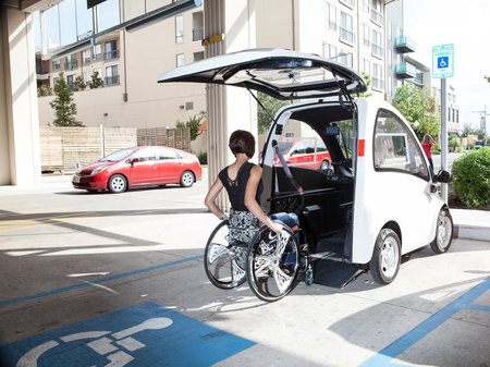 The Kenguru electric car looks to give wheelchair users more freedom