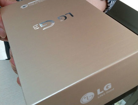 Leaked LG G3 retail box reveals trendy gold colour for flagship phone - photo 1