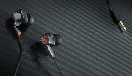 Tonino Lamborghini in-ear headphones designed for high-quality sound, even during sport