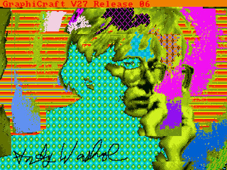 Lost Andy Warhol original artworks found on Commodore Amiga floppy disks from 1985
